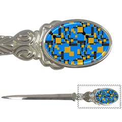Blue Yellow Shapes Letter Opener by LalyLauraFLM