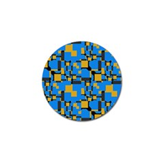 Blue Yellow Shapes Golf Ball Marker (4 Pack) by LalyLauraFLM