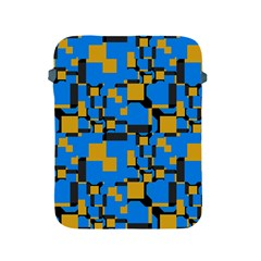 Blue Yellow Shapes Apple Ipad 2/3/4 Protective Soft Case by LalyLauraFLM
