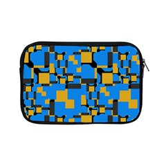Blue Yellow Shapes Apple Ipad Mini Zipper Case by LalyLauraFLM