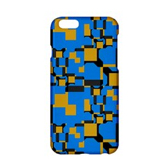 Blue Yellow Shapes Apple Iphone 6 Hardshell Case by LalyLauraFLM