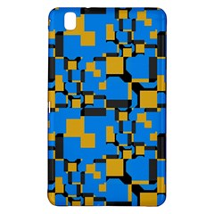 Blue Yellow Shapessamsung Galaxy Tab Pro 8 4 Hardshell Case by LalyLauraFLM