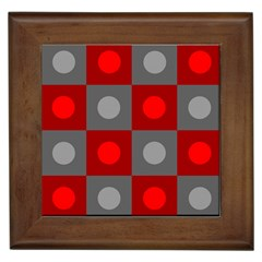 Circles In Squares Pattern Framed Tile by LalyLauraFLM