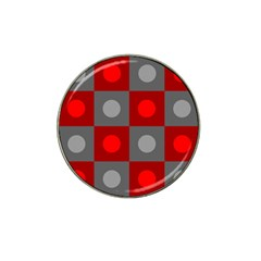 Circles In Squares Pattern Hat Clip Ball Marker (10 Pack) by LalyLauraFLM