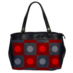 Circles In Squares Pattern Oversize Office Handbag by LalyLauraFLM