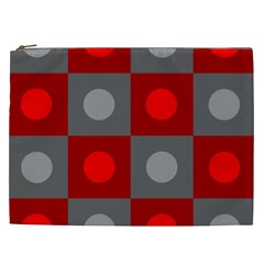 Circles In Squares Pattern Cosmetic Bag (xxl) by LalyLauraFLM