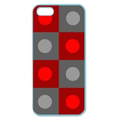 Circles In Squares Pattern Apple Seamless Iphone 5 Case (color) by LalyLauraFLM