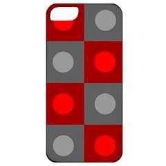 Circles In Squares Pattern Apple Iphone 5 Classic Hardshell Case by LalyLauraFLM