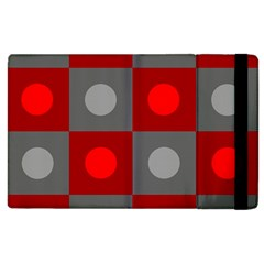 Circles In Squares Pattern Apple Ipad 2 Flip Case by LalyLauraFLM