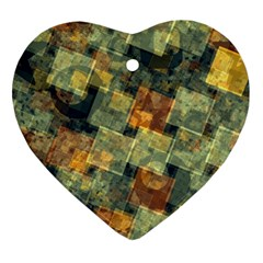 Stars Circles And Squares Ornament (heart) by LalyLauraFLM