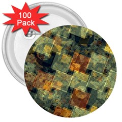 Stars Circles And Squares 3  Button (100 Pack) by LalyLauraFLM