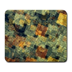 Stars Circles And Squares Large Mousepad by LalyLauraFLM