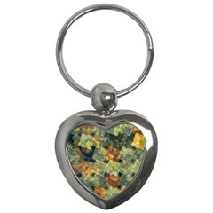 Stars Circles And Squares Key Chain (heart) by LalyLauraFLM
