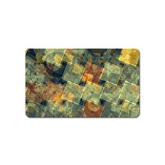 Stars Circles And Squares Magnet (name Card) by LalyLauraFLM