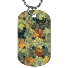 Stars Circles And Squares Dog Tag (one Side) by LalyLauraFLM