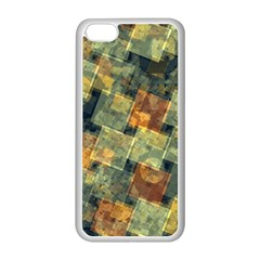 Stars Circles And Squares Apple Iphone 5c Seamless Case (white) by LalyLauraFLM