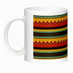 Waves And Stripes Pattern Night Luminous Mug by LalyLauraFLM