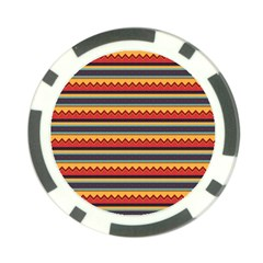 Waves And Stripes Pattern Poker Chip Card Guard (10 Pack)