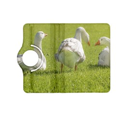 Group Of White Geese Resting On The Grass Kindle Fire Hd (2013) Flip 360 Case by dflcprints