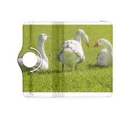 Group Of White Geese Resting On The Grass Kindle Fire Hdx 8 9  Flip 360 Case by dflcprints