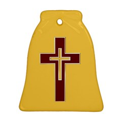 Red Christian Cross Ornament (bell) by igorsin