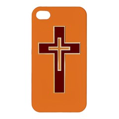 Red Christian Cross Apple Iphone 4/4s Hardshell Case by igorsin