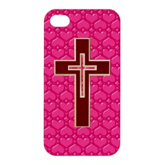 Red Christian Cross Apple Iphone 4/4s Premium Hardshell Case by igorsin