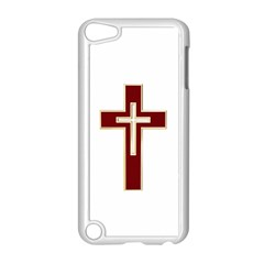 Red Christian Cross Apple Ipod Touch 5 Case (white) by igorsin