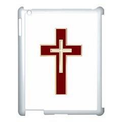 Red Christian Cross Apple Ipad 3/4 Case (white) by igorsin