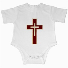 Red Christian cross Infant Creeper by igorsin