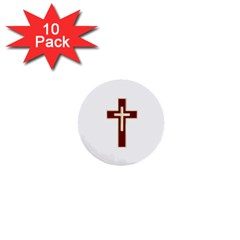 Red Christian Cross 1  Mini Button (10 Pack)  by igorsin