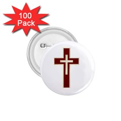 Red Christian Cross 1 75  Button (100 Pack)  by igorsin