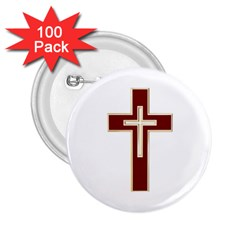 Red Christian Cross 2 25  Button (100 Pack) by igorsin