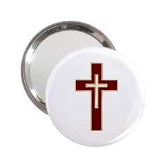 Red Christian Cross 2 25  Handbag Mirror by igorsin