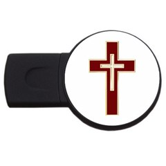 Red Christian Cross Usb Flash Drive Round (2 Gb) by igorsin