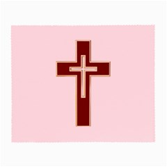 Red Christian Cross Small Glasses Cloth by igorsin