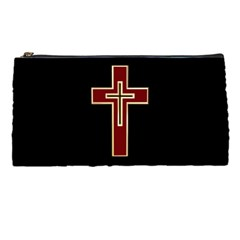 Red Christian Cross Pencil Case by igorsin