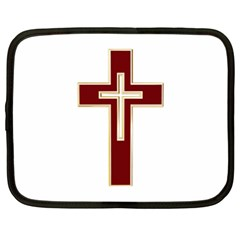 Red Christian Cross Netbook Case (xl) by igorsin