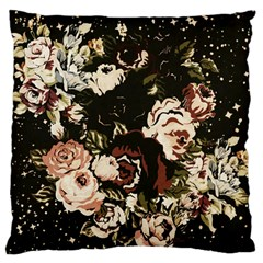 Dark Roses Standard Flano Cushion Cases (two Sides)  by LovelyDesigns4U