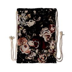 Dark Roses Drawstring Bag (small) by LovelyDesigns4U