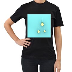 Bright Ideas Women s T Shirt (black) (two Sided)