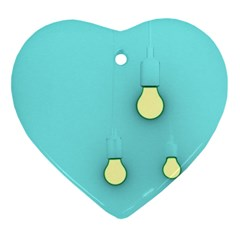Bright Ideas Heart Ornament (2 Sides) by essentialimage