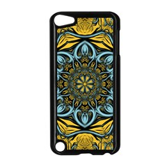 Blue Floral Fractal Apple Ipod Touch 5 Case (black) by igorsin