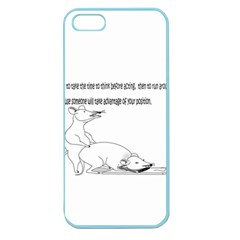 Better To Take Time To Think Apple Seamless Iphone 5 Case (color) by mouse