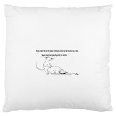 Better To Take Time To Think Large Flano Cushion Cases (two Sides)  by mouse