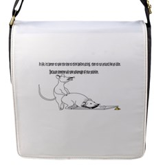 Better To Take Time To Think Flap Messenger Bag (s)
