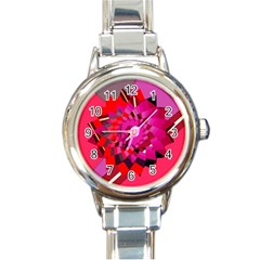Geo Fun 11 Round Italian Charm Watches by MoreColorsinLife