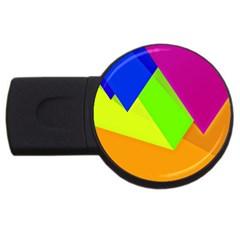 Geo Fun 15 USB Flash Drive Round (4 GB)  by MoreColorsinLife