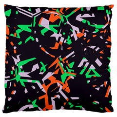 Broken Pieces Large Cushion Case (two Sides) by LalyLauraFLM