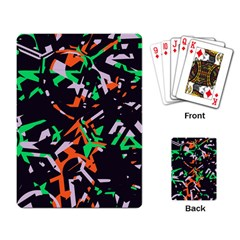 Broken Pieces Playing Cards Single Design by LalyLauraFLM